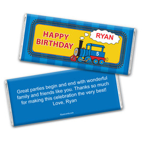 Choo Choo Train Personalized Candy Bar - Wrapper Only