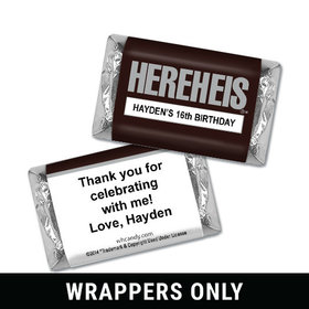 Classic HEREHEIS Birthday Personalized Miniature Wrappers