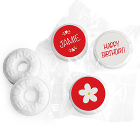 Flowery Personalized Birthday LIFE SAVERS Mints Assembled