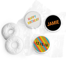 Vibrant Personalized Birthday LIFE SAVERS Mints Assembled