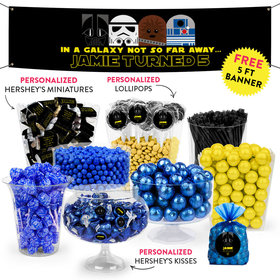 Personalized Kids Birthday Galactic Empire Themed Deluxe Candy Buffet