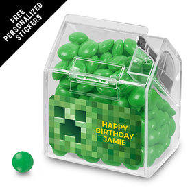 Birthday Personalized Candy Bin Dispenser Creeper Style Craft (12 Pack)