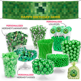 Personalized Kids Birthday Minecraft Themed Deluxe Candy Buffet