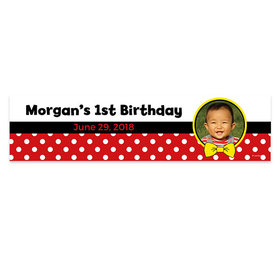 Personalized Mickey Mouse Theme Photo Birthday Banner