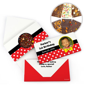 Personalized Mickey Themed Photo Birthday Gourmet Infused Belgian Chocolate Bars (3.5oz)