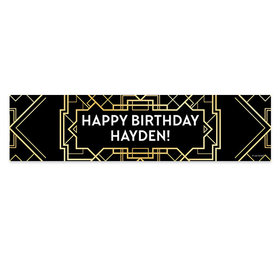 Personalized Gatsby Birthday Banner