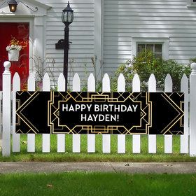 Personalized Gatsby Birthday 5 Ft. Banner