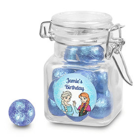 Birthday Personalized Latch Jar Disney Style Frozen Theme (12 Pack)