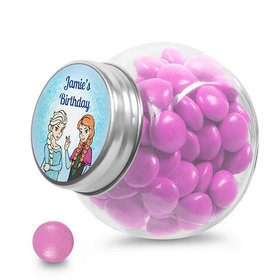 Birthday Personalized Mini Side Jar Disney Style Frozen Theme (24 Pack)