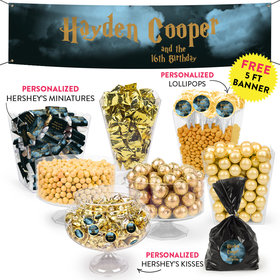 Personalized Kids Birthday Harry Potter Wizzardly Wishes Themed Deluxe Candy Buffet