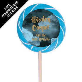"Birthday Personalized 3"" Swirly Pop Harry Potter Wizzardly Wishes (12 Pack)"
