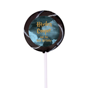 Birthday Personalized Small Swirly Pop Harry Potter Wizzardly Wishes (24 Pack)