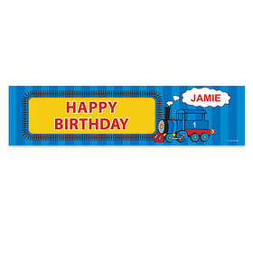 Personalized Train Birthday Banner