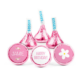 Personalized Kids Birthday Flowery Hershey's Kisses (50 pack)