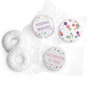 Personalized Colorful Splatter Birthday Life Savers Mints