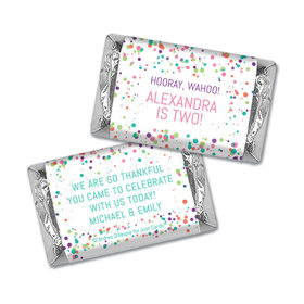 Personalized Birthday Colorful Splatter Hershey's Miniatures