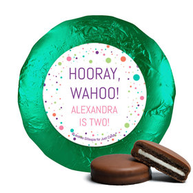 Personalized Birthday Colorful Splatter Chocolate Covered Oreos (24 Pack)