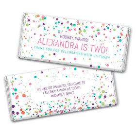 Personalized Birthday Colorful Splatter Chocolate Bar Wrappers