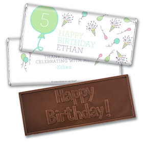 Personalized Birthday Party Time Embossed Chocolate Bar