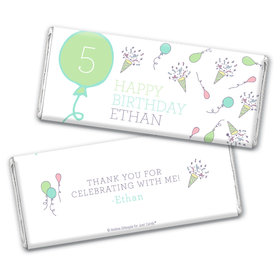 Personalized Birthday Party Time Chocolate Bar Wrappers