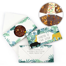 Personalized Wandering Wild Things Birthday Gourmet Infused Belgian Chocolate Bars (3.5oz)