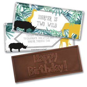 Personalized Birthday Wandering Wild Things Embossed Chocolate Bar