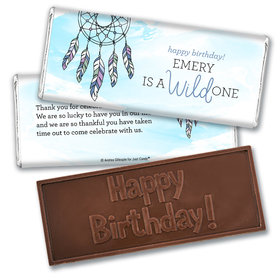 Personalized Birthday Wild Dreamer Embossed Chocolate Bar