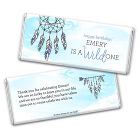 Personalized Birthday Wild Dreamer Chocolate Bar Wrappers
