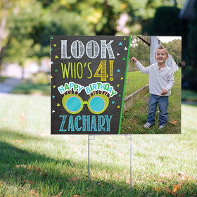 Birthday Yard Sign Personalized - Look Who's Bday Boy