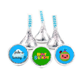 """Personalized Birthday Party Melon 3/4"""" Stickers (108 Stickers)"""