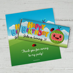 Personalized Birthday Party Melon Chocolate Bar Wrappers
