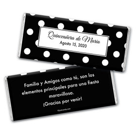 Dia Lleno de Punto Personalized Candy Bar - Wrapper Only