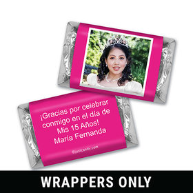 Quinceañera Personalized HERSHEY'S MINIATURES Wrappers Instantnea