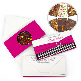 Personalized Rayas y el Arco Quinceanera Gourmet Infused Belgian Chocolate Bars (3.5oz)