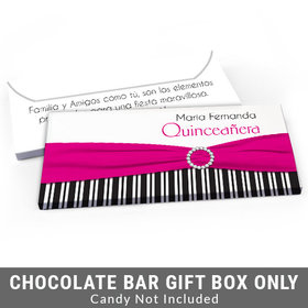 Deluxe Personalized Rayas y el Arco Quinceanera Candy Bar Cover
