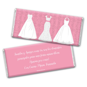 Personalized Quinceaera 3 White Dresses Chocolate Bar Wrappers