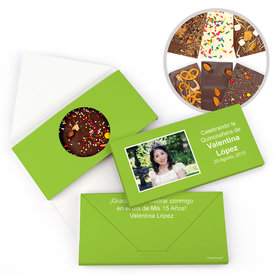 Personalized Instantnea Quinceanera Gourmet Infused Belgian Chocolate Bars (3.5oz)