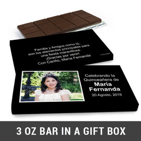 Deluxe Personalized Quinceañera Instantnea Chocolate Bar in Gift Box (3oz Bar)