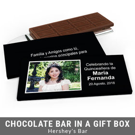 Deluxe Personalized Instantnea Quinceanera Chocolate Bar in Gift Box