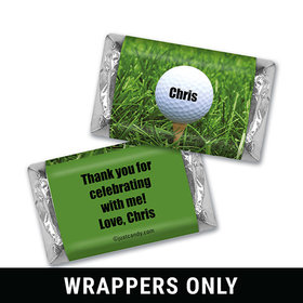Golf Swing Personalized Miniature Wrappers