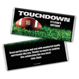 First and Goal Personalized Candy Bar - Wrapper Only