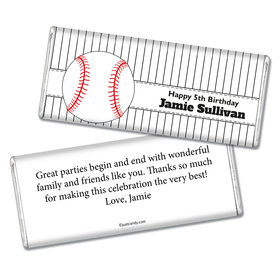 Birthday Personalized Chocolate Bar Baseball Party