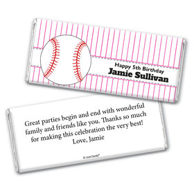 Home Run Personalized Candy Bar - Wrapper Only