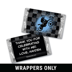 Birthday Personalized HERSHEY'S MINIATURES Wrappers Motorcycle Motorcross Party