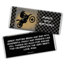 Motorcross Pro Personalized Candy Bar - Wrapper Only