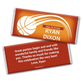 Hoop Time Personalized Candy Bar - Wrapper Only