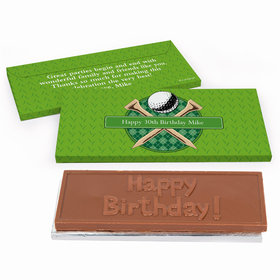 Deluxe Personalized Golf Birthday Chocolate Bar in Gift Box