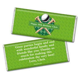 Birthday Personalized Chocolate Bar Argyle Golf Ball