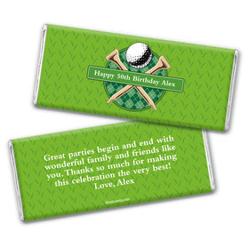 Par-Tee Time Personalized Candy Bar - Wrapper Only