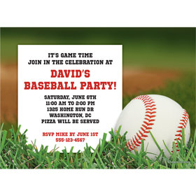 Baseball Personalized Invitation